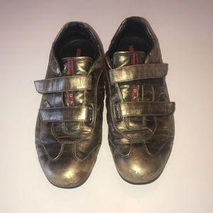 Prada Sport Gold Sneakers